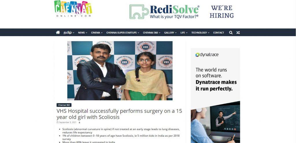 dr vignesh pushparaj performs surgery